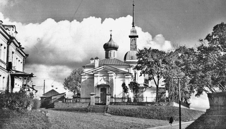 Вид на Знаменский храм, начало XX века. Фото предоставлено Татьяной Любиной